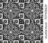 abstract dynamic retro tiles... | Shutterstock .eps vector #707438629