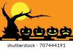 halloween background vector | Shutterstock .eps vector #707444191