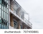 the smoke coming out of the... | Shutterstock . vector #707450881