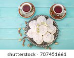 shot from top. traditional... | Shutterstock . vector #707451661