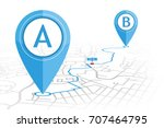 gps navigator pin checking... | Shutterstock .eps vector #707464795