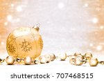 christmas background with copy... | Shutterstock . vector #707468515