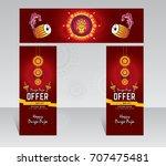 durga puja festival offer...   Shutterstock .eps vector #707475481
