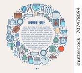garage sale or flea market... | Shutterstock .eps vector #707478094