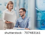 business team problem solving... | Shutterstock . vector #707483161