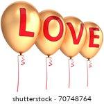valentine's balloons total... | Shutterstock . vector #70748764