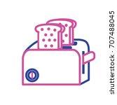 silhouette toaster technology...   Shutterstock .eps vector #707488045