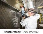 commercial kitchen worker...   Shutterstock . vector #707490757