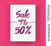 "conceptual handwritten phrase  ""... | Shutterstock .eps vector #707492914"