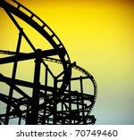 roller coaster track silhouette ...   Shutterstock . vector #70749460