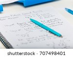 notepad with scientific... | Shutterstock . vector #707498401