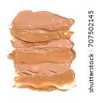 liquid makeup foundation stroke   Shutterstock . vector #707502145
