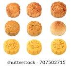 handmad mooncake isolated on... | Shutterstock . vector #707502715