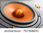 hifi gold and black loud... | Shutterstock . vector #707508691