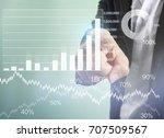 businessman with financial... | Shutterstock . vector #707509567