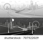 highway in mountains.... | Shutterstock .eps vector #707522029