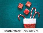 christmas decorations  wooden... | Shutterstock . vector #707531971
