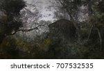digital matte painting of dark...   Shutterstock . vector #707532535