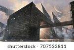 digital matte painting of...   Shutterstock . vector #707532811