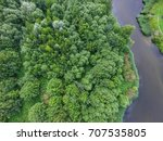 top view of parks in st.... | Shutterstock . vector #707535805