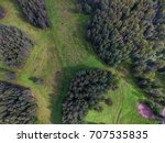 top view of parks  | Shutterstock . vector #707535835