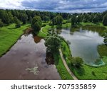 top view of parks in st.... | Shutterstock . vector #707535859