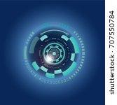 futuristic  eye effect for... | Shutterstock .eps vector #707550784