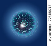 futuristic  eye effect for... | Shutterstock .eps vector #707550787
