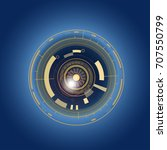 futuristic  eye effect for... | Shutterstock .eps vector #707550799