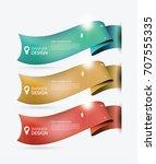 business banner design set... | Shutterstock .eps vector #707555335