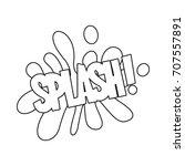 comic bubble speech icon in... | Shutterstock .eps vector #707557891