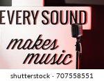 retro microphone | Shutterstock . vector #707558551