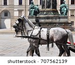 fiaker at hofburg palace in... | Shutterstock . vector #707562139