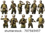 us marine corps soldier with... | Shutterstock . vector #707565457