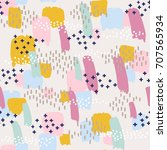 seamless pattern with color...   Shutterstock .eps vector #707565934