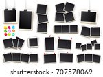 big set of square vector photo... | Shutterstock .eps vector #707578069