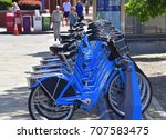 Small photo of Philadelphia, Pennsylvania - September 1, 2017: There are hundreds of bicycles available in Philadelphia 24/7 365 days a year on a rental basis.