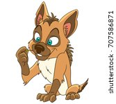 cartoon wolf animal  jackal ... | Shutterstock .eps vector #707586871