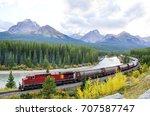 freight train running in... | Shutterstock . vector #707587747