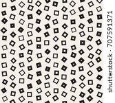 seamless primitive jumble... | Shutterstock .eps vector #707591371
