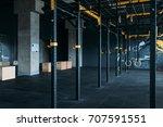 fitness club interior. gym... | Shutterstock . vector #707591551