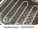 hot or warm floor structure ... | Shutterstock . vector #707592055