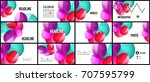 modern geometric presentation... | Shutterstock .eps vector #707595799