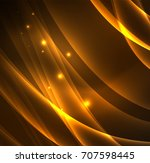 energy lines  glowing waves in... | Shutterstock .eps vector #707598445