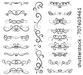 vector illustration set of... | Shutterstock .eps vector #707603461