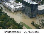 hurricane harvey impacts  ... | Shutterstock . vector #707603551