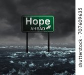 hope ahead inspirational and... | Shutterstock . vector #707609635