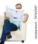 man reading newspaper. people... | Shutterstock . vector #70761907
