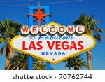 welcome to las vegas sign | Shutterstock . vector #70762744