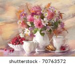 Bouquet Of Flowers Autumn In A...
